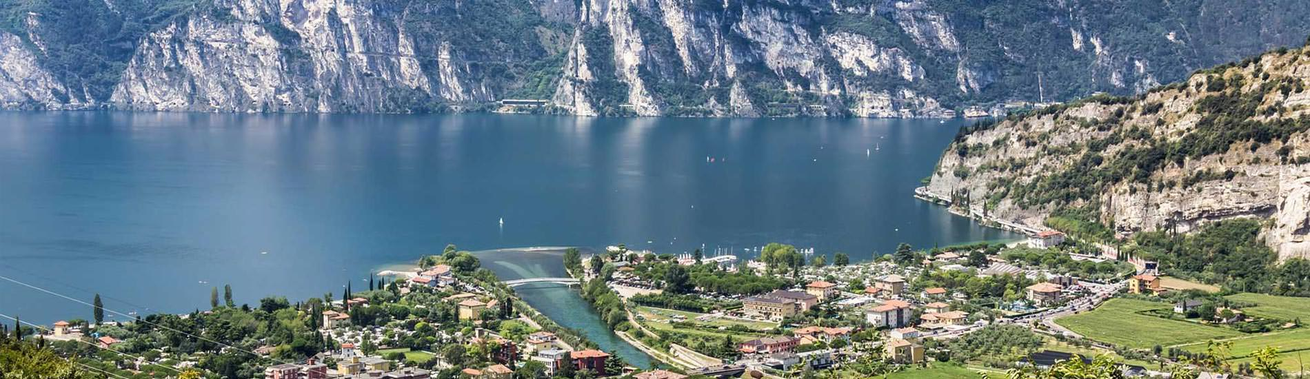 A panoramic view from Garda Lake